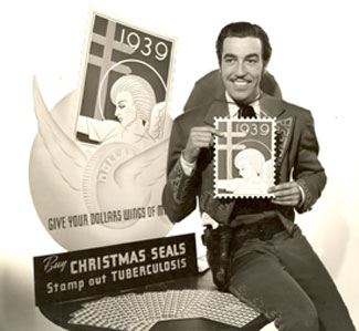 Cesar Romero as The Cisco Kid introduces 1939 Christmas Seals.