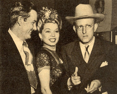 A 1943 night on the town with Jimmy Wakely, singer Frances Langford and  bandleader Kay Kyser.