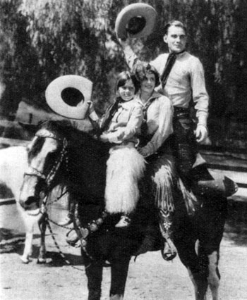 Taken the late '20s...Buck Jones with wife Dell and daughter Maxine.