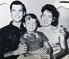 Clint Walker with his then wife Verna and daughter Val.