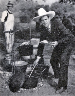 Ken Maynard threw a chuck wagon dinner for 65 celebrities in April of 1930. Guests included Bebe Daniels, Virginia Lee, Robert Armstrong, Ben Lyon, Lew Cody, Al Rogell, Alan Hale, Reginald Denny, among others.
