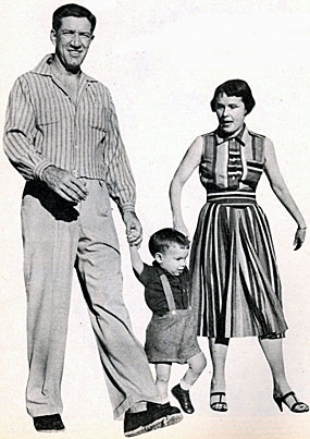 Paladin...Richard Boone with his wife Mary Claire and son Peter in late 1955.