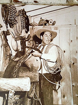 Leo Carrillo in his tack room at his Carlsbad, CA ranch.