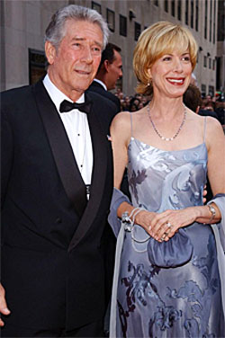 """Laramie"", ""Wagon Train""—Robert Fuller with wife Jennifer Savidge."
