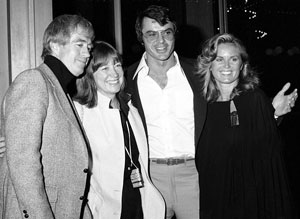 """The Tall Man""/""Lazarus Man""—Clu Gulager with wife Miriam, Robert Urich with wife Heather in 1978."