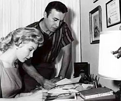 """Law of the Plainsman""—Michael Ansara and wife/actress Barbara Eden."