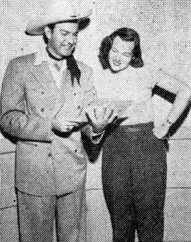 Capitol songstress Jo Stafford takes a look at Tex Williams latest songs  to be recorded in 1950.
