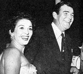 Rod Cameron out on the town with wife Angela in 1954.