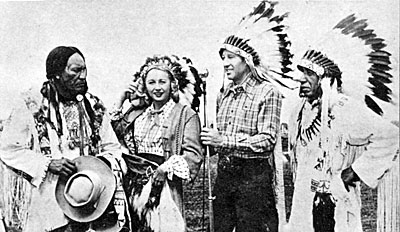 The Sioux Indians took one look at Vera Ralston and named her Princess Yiota (Beautiful One) during ceremonies giving her induction into the Ogalala tribe.
