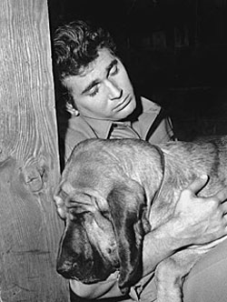 Sleepytime...Michael Landon and friend.