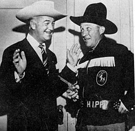 "A couple of years after his ""Hopalong Cassidy"" movies ended, William ""Hoppy"" Boyd, then 53, was scheduled to make a movie called ""Hi Partner"" for Paramount with Bing ""Hippy"" Crosby. The film never got made."