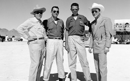 Roy and friends at the Bonneville Salt Flats in Utah.