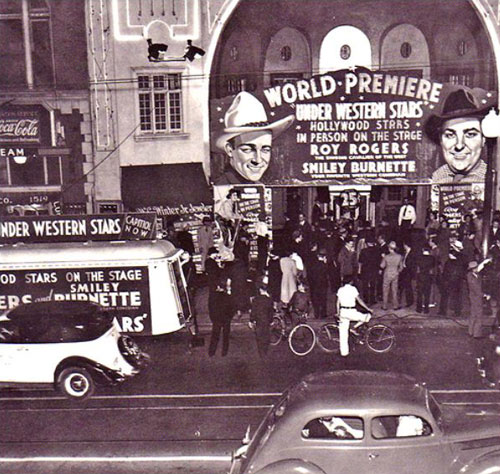Premiere of Roy's first starring Republic Western in 1938.