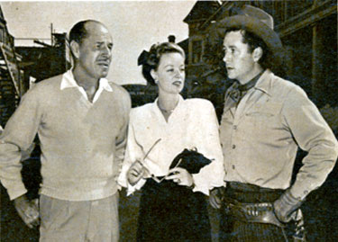 "Jack and Tim Holt, who co-starred together in ""Arizona Ranger"" ('48 RKO), with Jennifer Holt, daughter of Jack and sister of Tim."