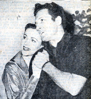 "Anne Jeffreys and singer John Raitt rehearsing for ""Three Wishes For Jamie"" which debuted on Broadway in mid-1952."