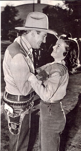 "Gene Autry loved Mary Lee's singing voice in his Republic westerns. Two thirds of Gene's fan mail asked about Mary. Theatre owners commented ""Not enough of this amazing youngster."""