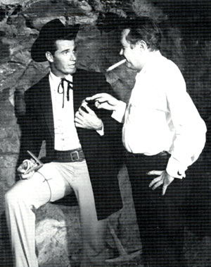 "James (""Maverick"") Garner and director Montgomery Pittman."