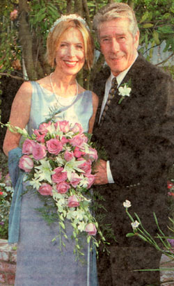 May 19, 2001—Robert Fuller and Jennifer Savidge were married at the Little Brown Church in Studio City, California.