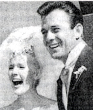 James Stacy and Connie Stevens' wedding in October 1963. Sadly, divorce followed not even three years later.