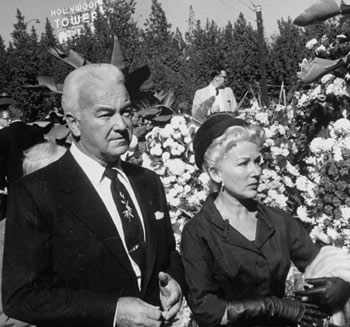 William Boyd and wife Grace Bradley attending Cecil B. DeMille's funeral in 1959. (Thanx to Gene Douglass.)