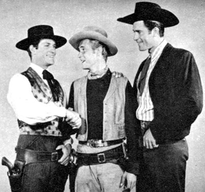 "Three of our favorite TV western heroes gather to compare notes: Hugh O'Brian (""Wyatt Earp""), John Lupton (""Broken Arrow"") and Clint Walker (""Cheyenne"")."