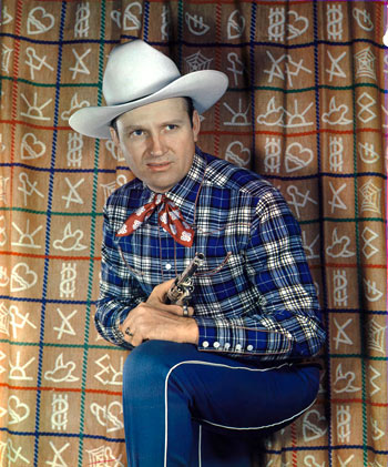 Terrific color photo of Gene Autry!