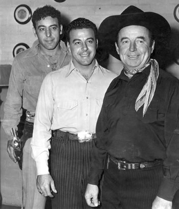 Stuntman Fred Carson, singer/actor Ted Smile and perennial B-western extra Herman Hack in the early '50s.