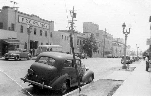 PRC Studios in 1942, B-western home to Buster Crabbe, George Houston and others. (Thanx to Bill Sasser.)