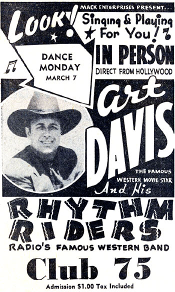 Art Davis at San Antonio's Club 75 in March, 1949.