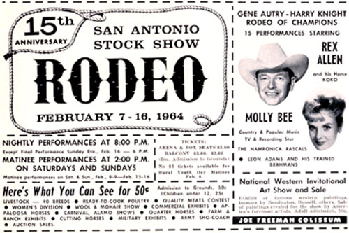 Note that Gene Autry owned this rodeo.