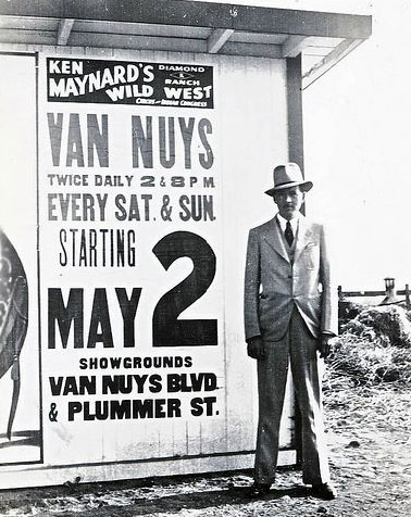 Isn't that Steve Clark standing before the Ken Maynard Diamond K Ranch Wild West poster in 1936? (Thanx to Jerry Whittington.)
