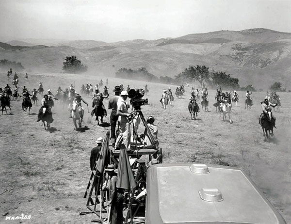 "Filming ""They Died With Their Boots On"" ('42 WB) on Lasky Mesa."