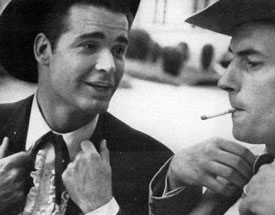 """Those things will kill ya, Brother Bart,"" says James Garner to Jack Kelly."