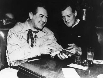 Over a drink, sometime in the late '40s, Johnny Mack Brown and Charles Starrett