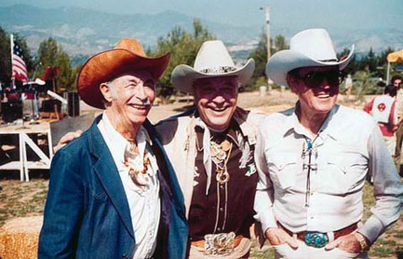 Three great senior citizen western stars: Eddie Dean, Monte Hale, Clayton Moore. (Thanx to Pat Shields.)