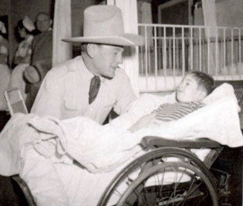 Buck Jones was fond of visiting children in hospital wards whenever possible.