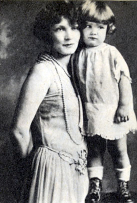 "Did she know she'd grow up to become ""Annie Oakley""? A young Gail Davis with her mother, Mrs. Grayson."