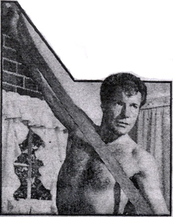 "A little beefcake for the ladies. Robert Horton of ""Wagon Train"" and ""A Man Called Shenandoah"". (Thanx to Terry Cutts.)"