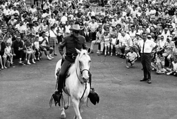 The Lone Ranger rides again in this 1967 photo.