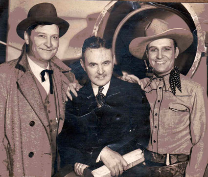 Max Terhune, Harry Van Noy and Gene Autry circa 1936. (Thanx to Ancient Faces.)
