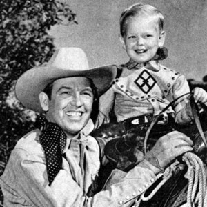 Rex Allen Sr. and Jr. circa 1949. (Thanx to Jerry Whittington.)