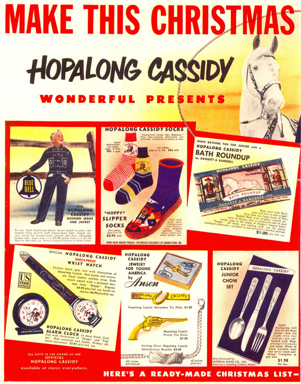 Hoppy merchandising from Christmas 1950.