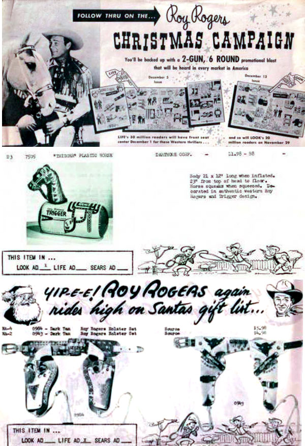 From Roy Rogers 1955 Christmas Campaign booklet.