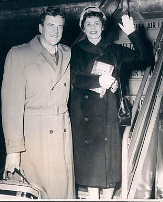 James Arness and wife Virginia in 1957. (Thanx to Terry Cutts.)