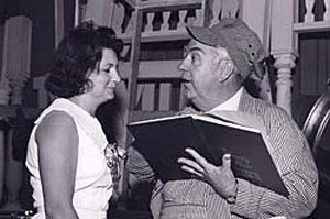 Smiley Burnette with a Nashville rep Jeane Matthews in 1965.