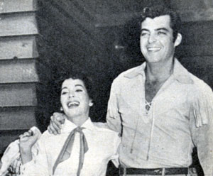 """The Texan"" Rory Calhoun with his actress wife Lita Baron in 1957. The couple were married from August 29, 1948 until July 17, 1970."