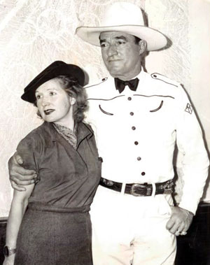 Tom Mix in 1938 with his fifth wife Mabel Ward. They were married from February 15, 1932 until his tragic death on October 12, 1940.