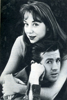 "Clu Gulager (""Tall Man"", ""The Virginian"") in 1961 with his wife Miriam Nethery."