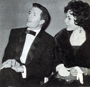 "Flint McCullough on ""Wagon Train"", Robert Horton, with his singer wife Marilyn Bradley. They were wed December 31, 1960."