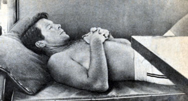 "Here's one for the girls. Robert Horton (""Wagon Train"") takes a little snooze."